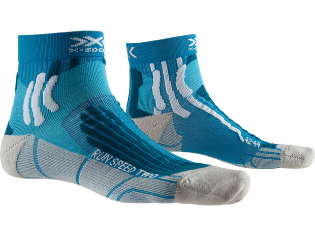 X-Socks Run Speed Two Strømper Herrer, teal blue/pearl grey